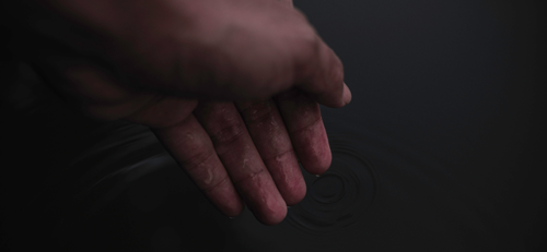 Water And Hand